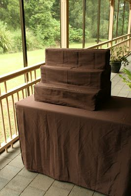 Home-made market stall table covers | Little Deer Creations Try this with burlap!