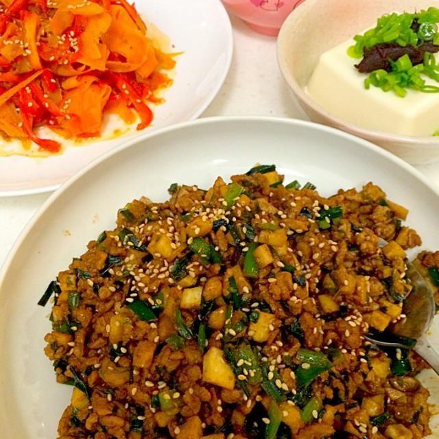 ムスメがごはん2杯食べた❗️ これは事件だ - 39件のもぐもぐ - 坦々ご飯、ニンジンとパプリカの炒めもん by kakubuntmiura