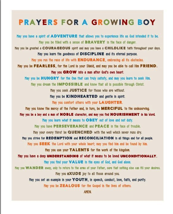 Prayer for a baby boy i love this prayer for my boys❤️ may they always follow Gods path for them.