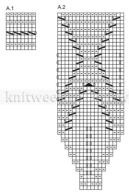Джемпер летние листья - Схема 2