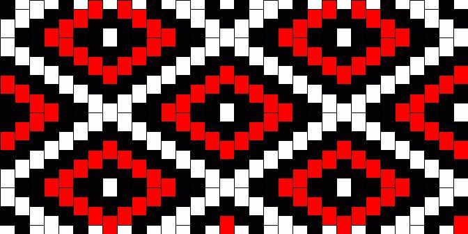 Red And Black Diamonds Kandi Pattern