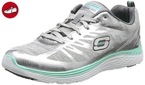 Skechers ValerisGreat One, Damen Sneakers, Silber (SLGY), 40 EU (*Partner-Link)