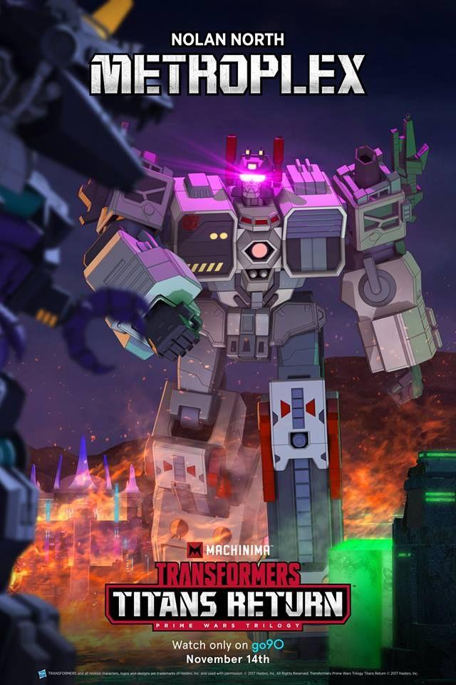 New Machinima Transformers Titans Return Metroplex Poster