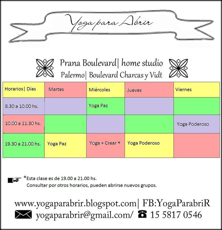 #schedulle #horarios #yoga #Studio #yoga #Argentina #Palermo #BA www.yogaparabrir.blogspot.com
