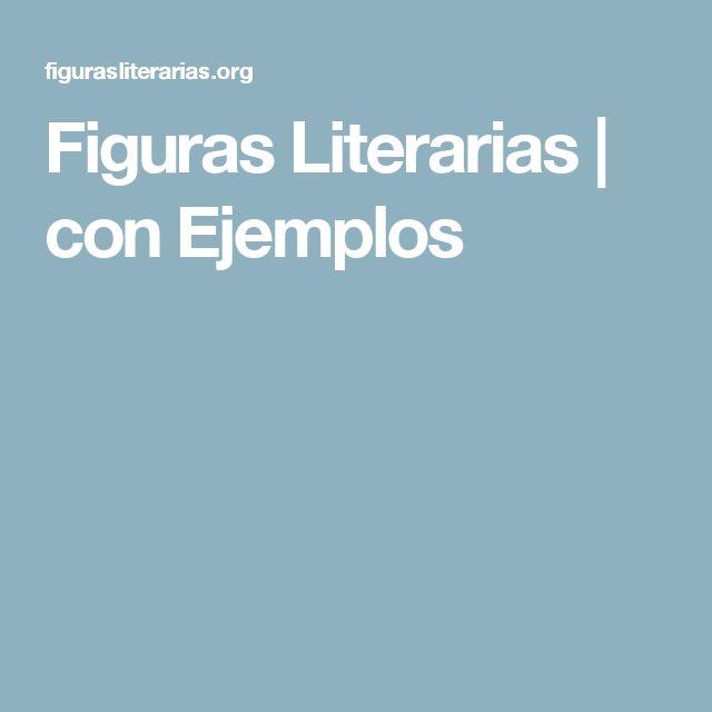 Figuras Literarias   con Ejemplos