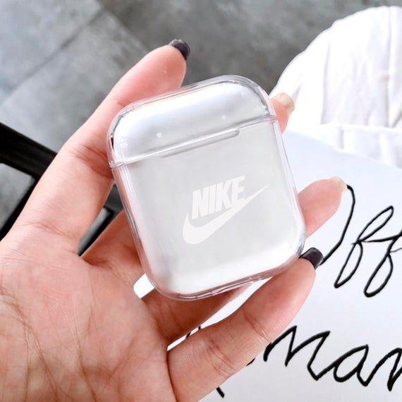 Nike Airpod Case Just Do It Airpods Cover Plastic Air Pods Case Nike Air Pods Clear Airpod Inspired Earbuds Case Cute Ipod Cases Apple Phone Case