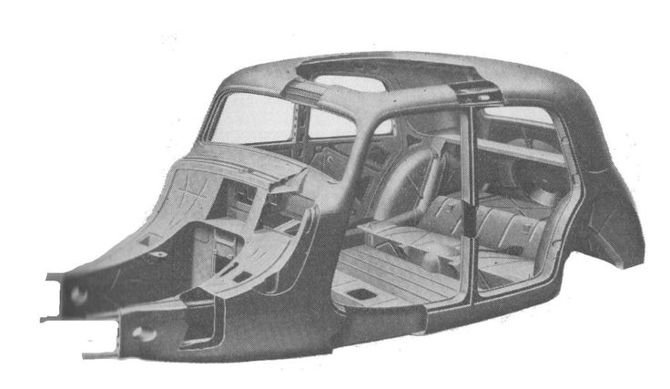 Citroen Traction Avant body-chassis unit (Autocar Handbook, 13th ed, 1935) - シトロエン・トラクシオン・アバン - Wikipedia
