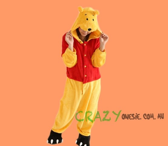 Winnie the Pooh Onesie. 25% off EVERYTHING in store. Free Express Delivery Australia-wide. Visit www.crazyonesie.com.au for more details. Visit our Facebook page https://www.facebook.com/crazyonesie for exclusive competitions and discounts