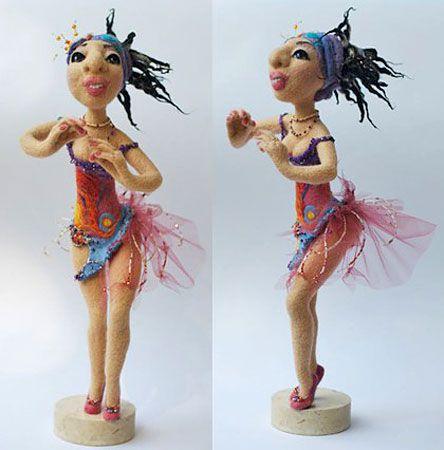 Валяная кукла, автор Диана Нагорная, магазин:http://www.livemaster.ru/diva2808