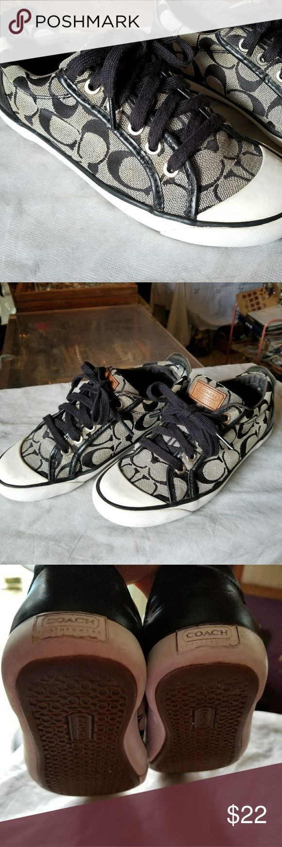 COACH SNEAKERS Coach sneaker with signs of usage. Coach Shoes