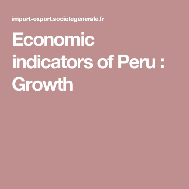 Economic indicators of Peru : Growth