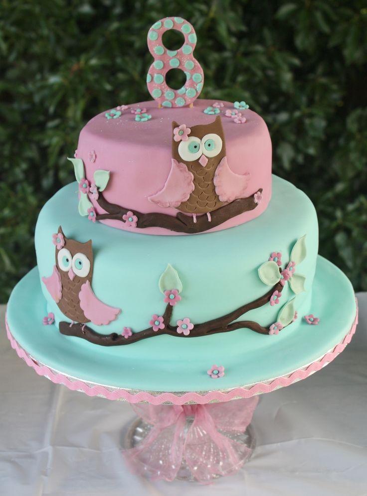 Owl Cake for Tilly's 8th Birthday.........