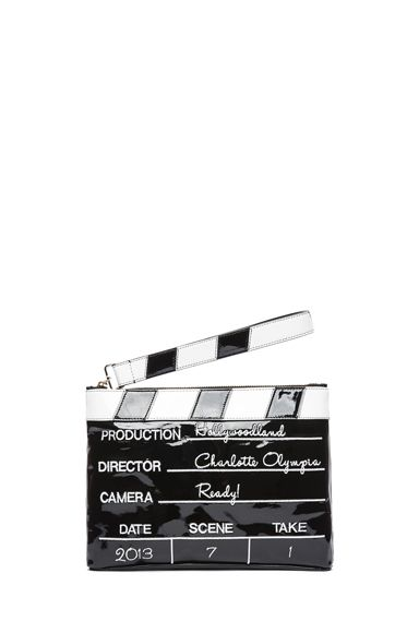 Charlotte Olympia Lights! Camera! Action! Clutch in Black