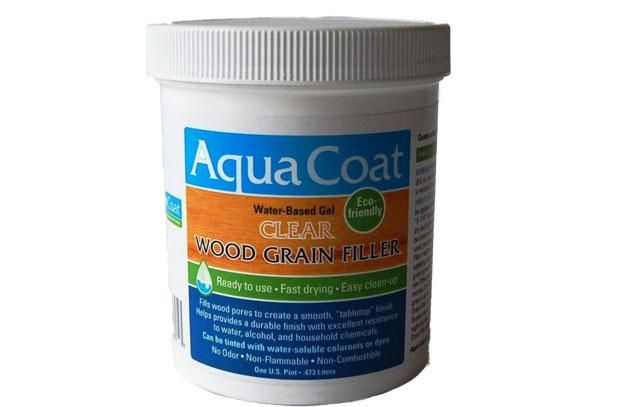 A superior water based grain filler that dries super clear.