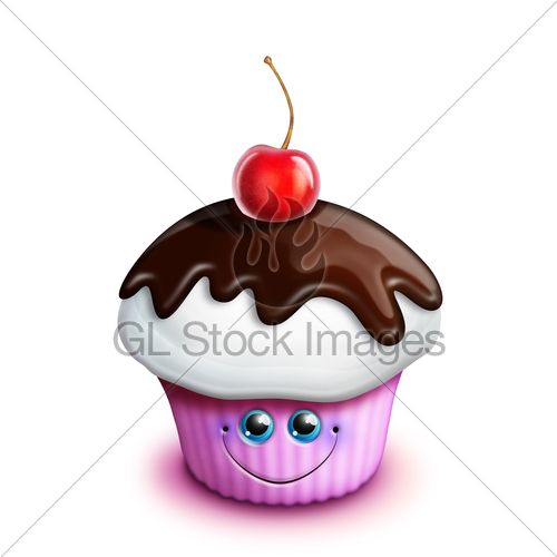 Dessert with cartoon faces on it | Whimsical Kawaii Cute ...