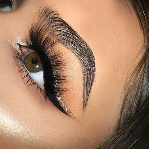 Winged liner + sparkle - perfect for NYE