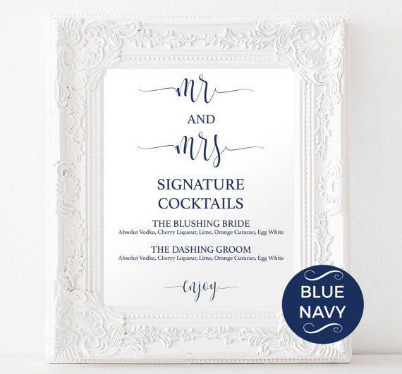 wedding drink menu template free - 25 best ideas about wedding signature drinks on pinterest