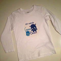 """Selbst gestaltetes T-Shirt """"Ich werde großer Bruder"""""""