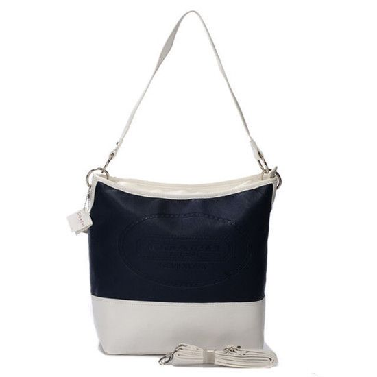 Coach Dark Blue Hamptons Medium Shoulder Bag AYN ($300)