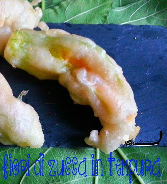 Fiori di zucca in tempura