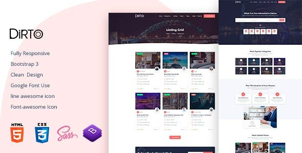 Dirto Is A Directory Listings Html5 Template You Can Use