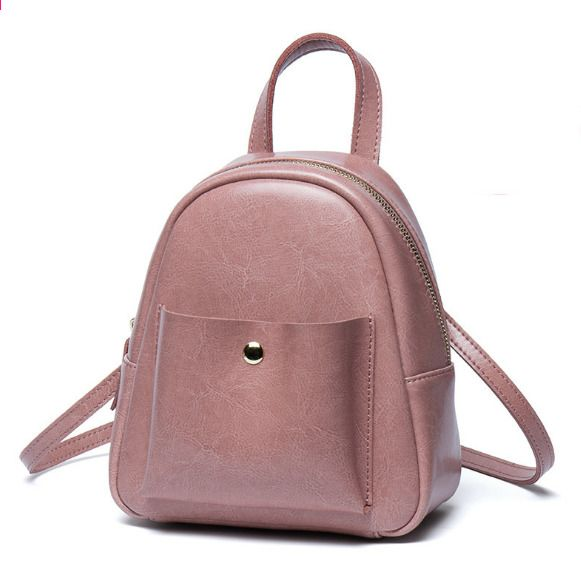 New Vintage Mini Female Genuine Leather Backpacks Elegant Korean Style Small  Shoulder Bag Fashion Girl Teenager 917fa5404bb7c