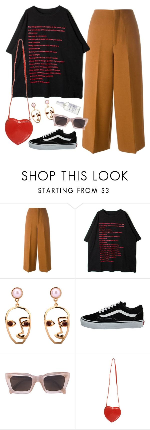 """""""crab fest at red lobster"""" by chanelandcoke ❤ liked on Polyvore featuring Marni, Vans, CÉLINE, Topshop and French Girl"""