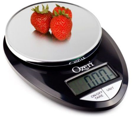 Amazon.com: Ozeri Pro Digital Kitchen Food Scale, 1g to 12 lbs Capacity, in Stylish Black: Kitchen & Dining