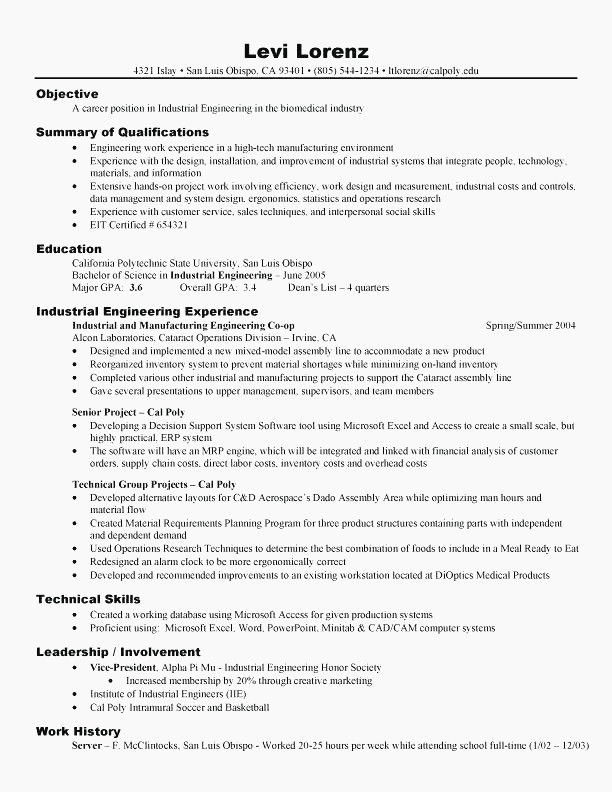 68 Beautiful Collection Of Good Science Resume Examples