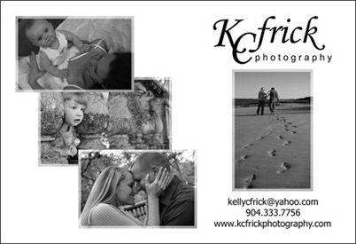 Post Card Design for K C Frick Photography in Augustine, FL: http://kcfrickphotography.com/
