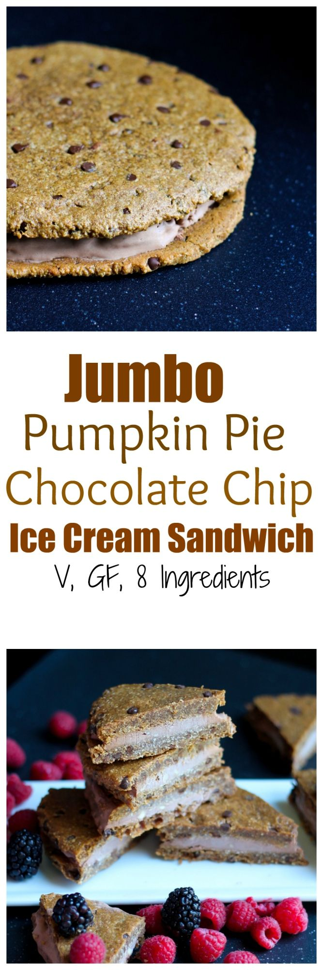 + ice cream = 1 jumbo Pumpkin Pie Chocolate Chip Ice Cream Sandwich ...
