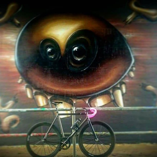 In love with @bikepunkberlin teamframe on @ridelightweight wheels and @sks_germany #anywhere.  #trackbike #supacaz #superstickykush  #graffiti #fixedgearracing #fixedgear #ballern #outsideisfree #issowieesis #lightweight #lightweightwheels #biehlercycling #ridebiehler #biehlersportswear #tunebike #tunede #bikepunk #bikepunkberlin #biglebikeski  #sksgermany #fxdfwd