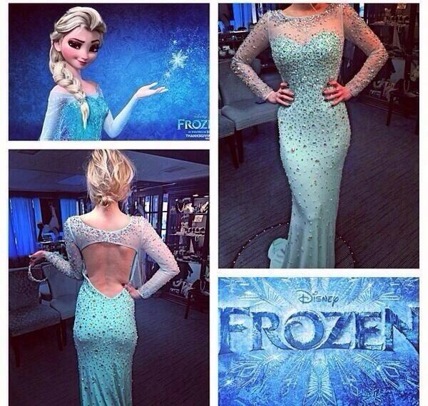 Real Life Frozen Inspired Prom Dress Dresses Pinterest Long