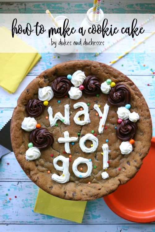 How To Make A Cookie Cake And Decorate It The Easy Way With Pillsbury Filled Pastry Bags From Walmart Ad