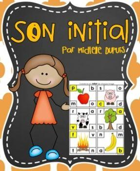 Sons initiaux. Cette activité permet aux élèves de développer leur conscience phonologique.