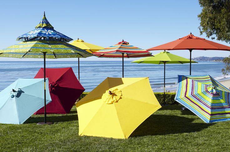 17 best images about outdoors deck party on pinterest for Restoration hardware outdoor umbrellas