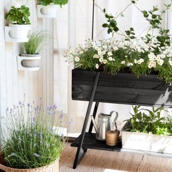 Raised grow box, black, by Kekkilä.