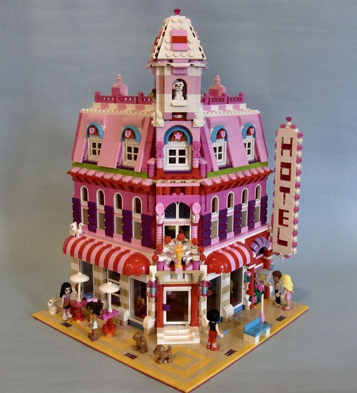 an awesome lego friends hotel