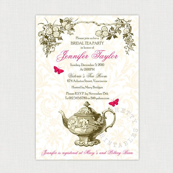 31 best Baby Girl Shower images on Pinterest Tea party - tea party invitation