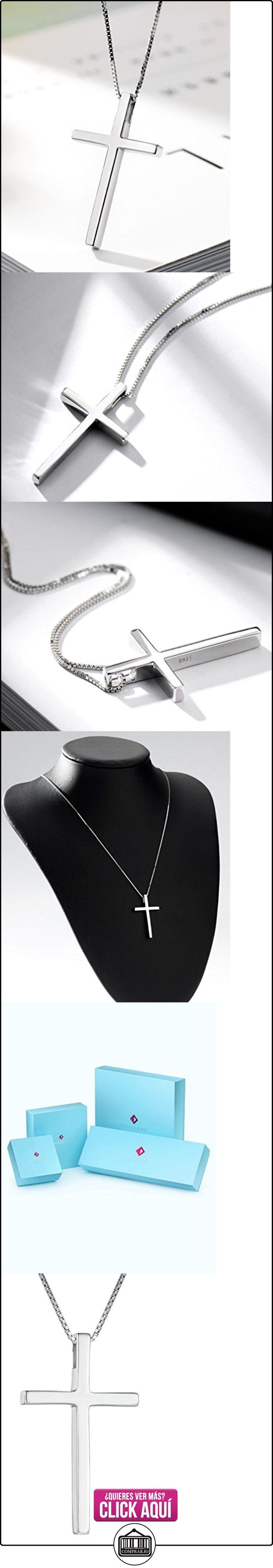 NEOGLORY Collar Colgante de Cruz Plata de Ley Joya Regalo Mujeres Hombres  ✿ Joyas para mujer - Las mejores ofertas ✿ ▬► Ver oferta: https://comprar.io/goto/B01E9ZTUFW
