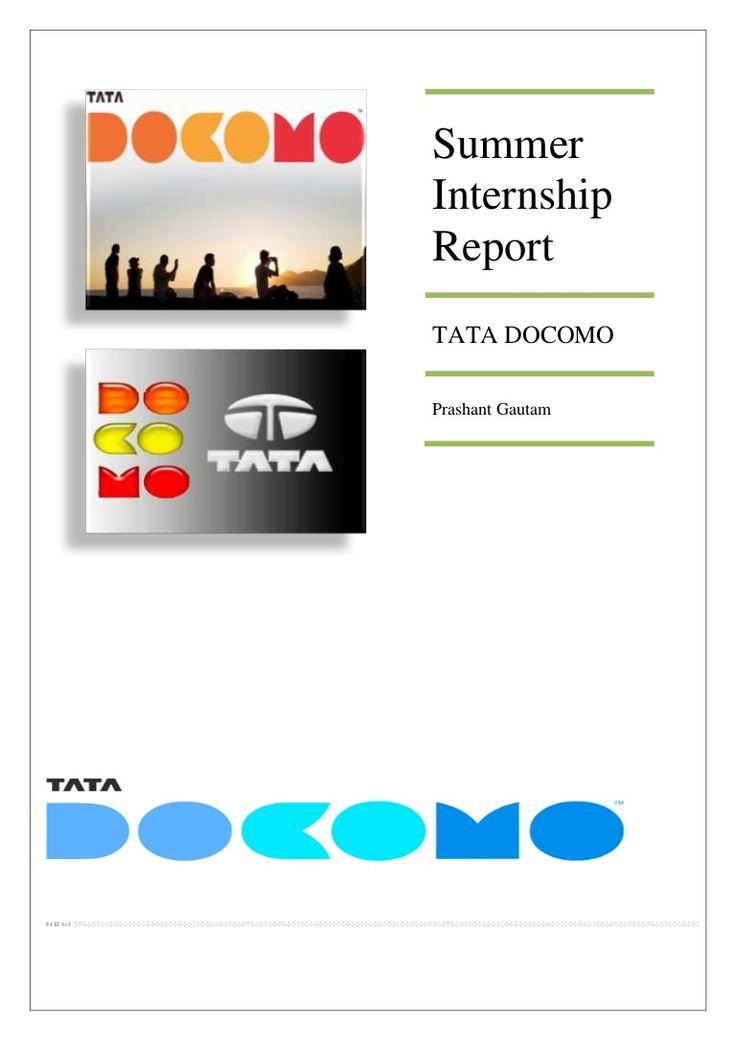 tata-docomo-report by gautam_prashant09 via Slideshare