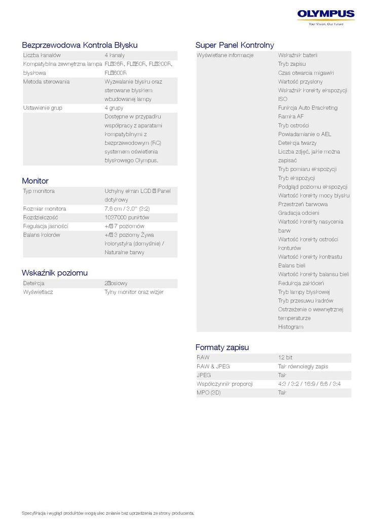 Olympus OM-D E-M1 // specyfikacja 6/8 // http://bit.ly/OM-D_pl