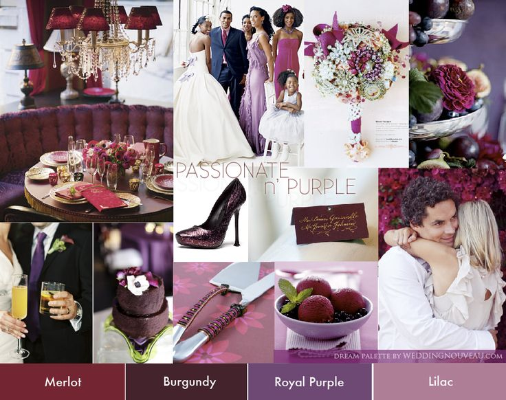 Fall purple dream palette inspiration board from weddingnouveau.com