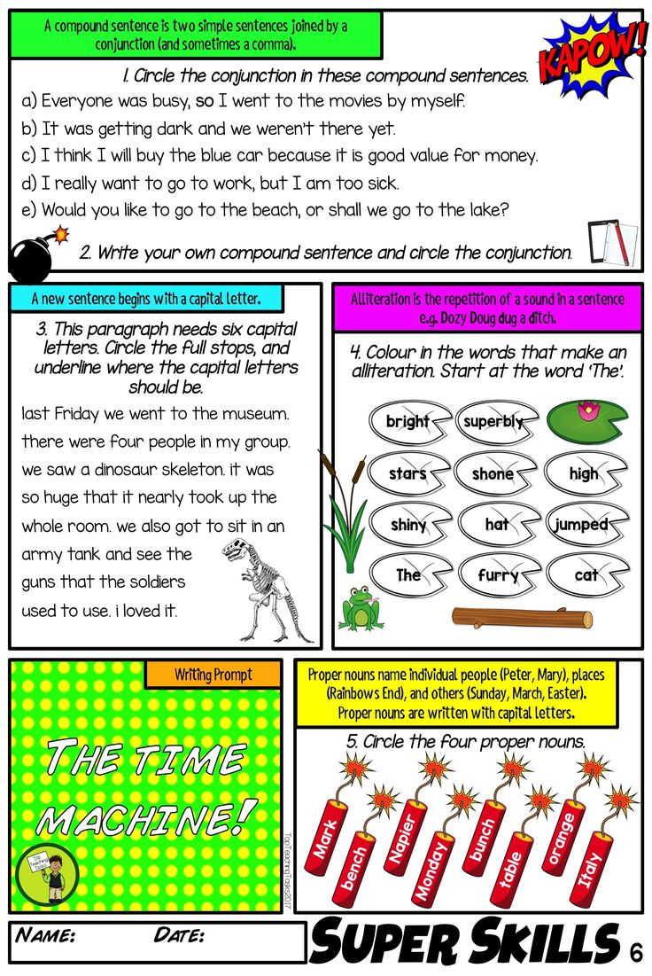 This literacy/language activity pack covers the integral surface and deep feature writing skills of grammar (parts of speech), punctuation, sentence structure, spelling, vocabulary and figurative language! It contains a full year of worksheet activities and assessments (diagnostic, summative and formative) to cover the skills of literacy in an easy, structured, cover-your-bases system. 32 writing prompts are provided. Print and go!