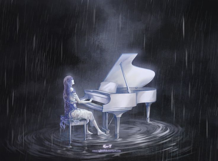 Melody in the Rain by hart-coco so would get something like this to honor my great grandma who is a life time piano player