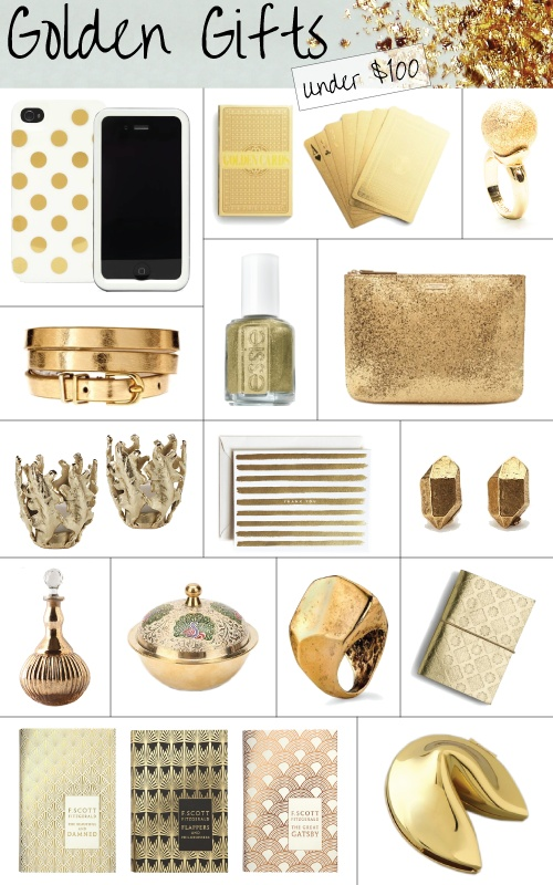Golden Gifts. Great birthday ideas!!!