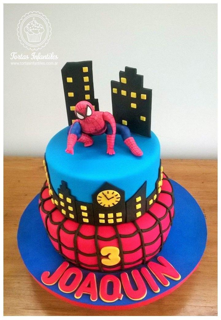 Torta del Hombre Araña de 2 pisos
