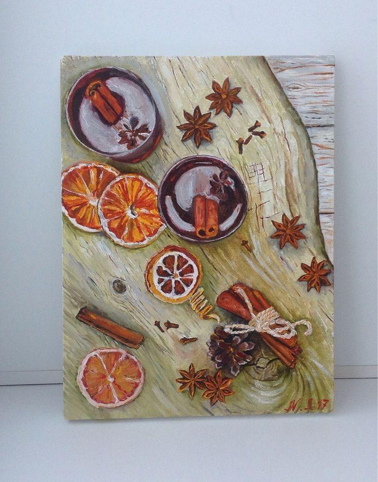 Купить Натюрморт в столовую Корица 30 на 40 подарок украшение кухни столовой - картина маслом