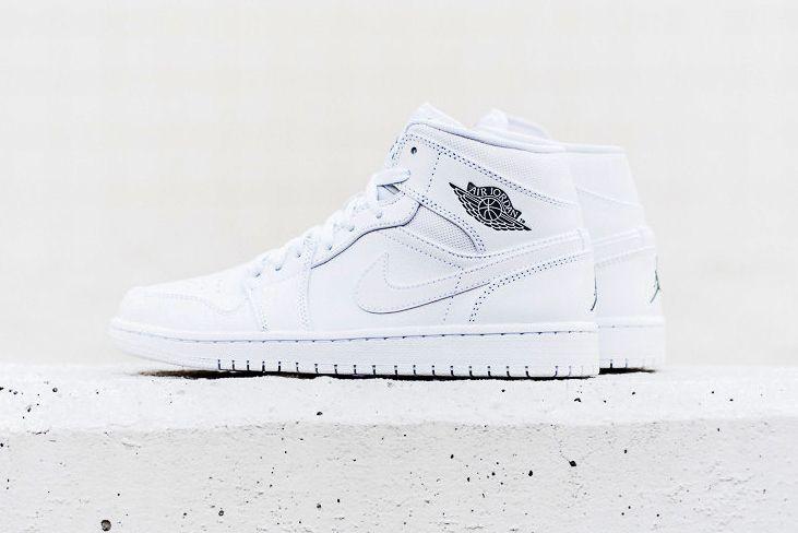 Air Jordan 1 Mid White/Cool Grey-White