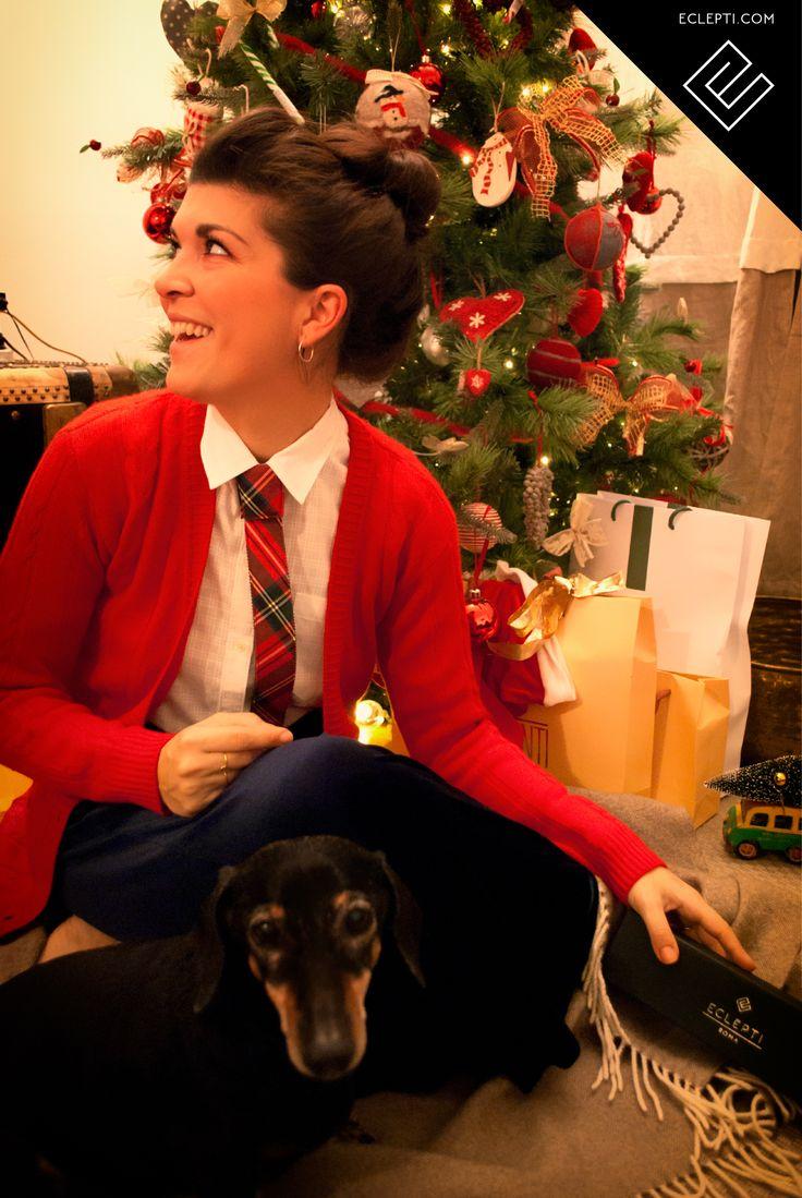 Christmas present  #modular #accessory #necktie #madeinitaly #noknots #tie #cravatta #man #style #double #side #eclectic #eclepti #originalgift #tartan